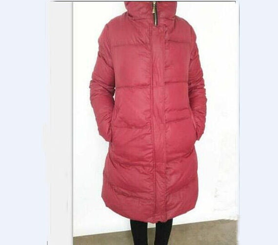 a2f2bfa254a Red Winter Down Jacket Hooded Down jacket Thick Women Warm Down jacket Many  Colors Plus Size