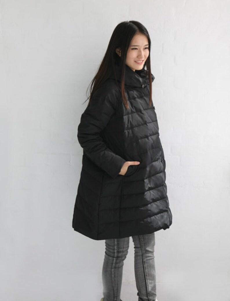 da6f3ffdc4d A-Line Winter Down Jacket Hooded Down jacket Thick Women Warm