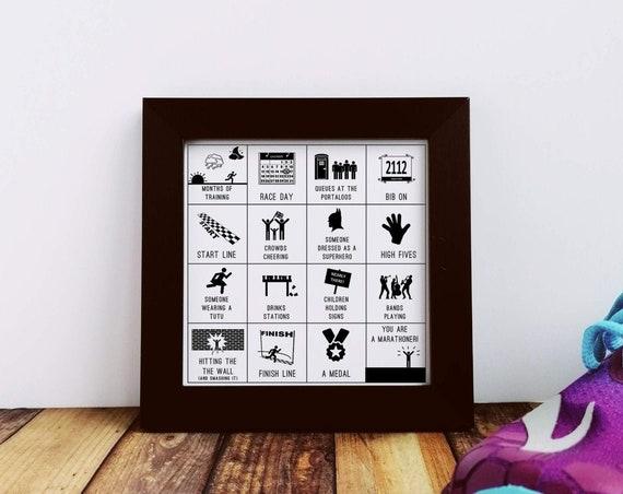 Marathoner Gift - Becoming a Marathoner. Small Framed Print, Marathon Training Gift, Marathon Runner Gift, Runner Gifts, Gifts for Runners