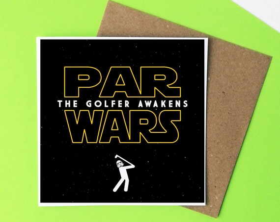 ON SALE! Golf Card - Par Wars.  Star Wars Pun. Golfers Card, Card for Golfer, Fathers Day Card. Funny Golf Card. Golfer Card.