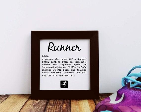 Running Gift - Runner Definition, Small Framed Print, Funny Running Gift, Gift Runner, Runner Print, Running Wall Art, Runners Framed Print
