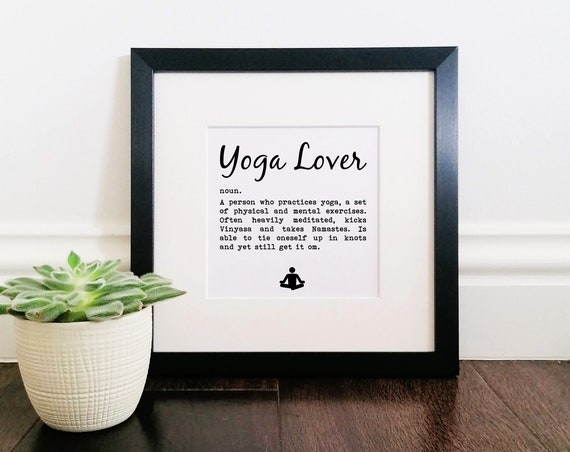 Yoga Gifts - Yoga Lover Definition. Yoga Teacher Gift. Yoga Lover Gift. Funny Yoga Gift. Yoga Friend Gift. Yoga Gifts for Men.
