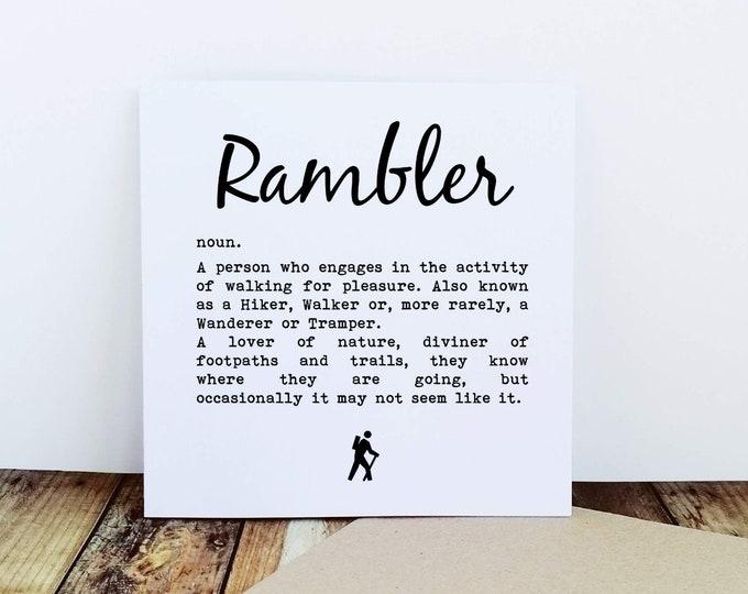 Walking Card - Rambler Definition.