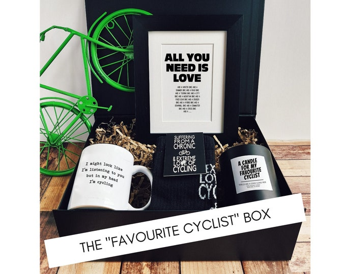 """Cycling Gifts - Cycling Gift Set - The """"Favourite Cyclist"""" Box."""