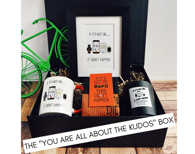 """Cycling Gifts - Cycling Gift Set - The """"You are all about the Kudos"""" Box."""