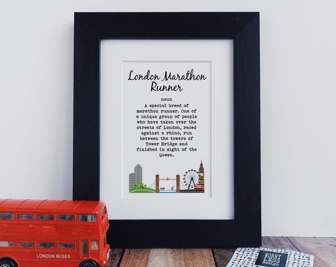 London Marathon Gifts - London Marathon Runner