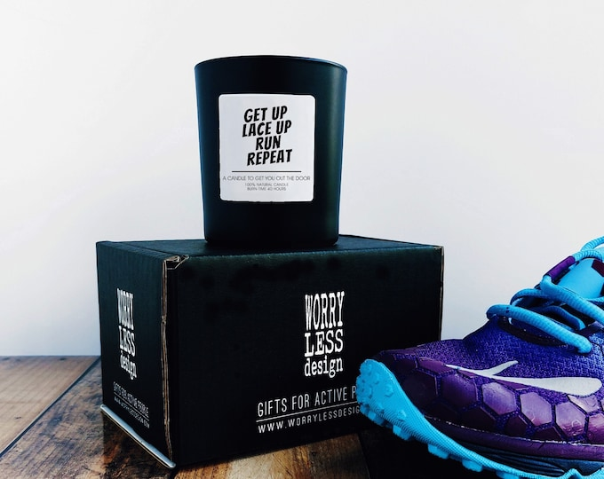 Scented Candle - Get up, Lace up, Run, Repeat