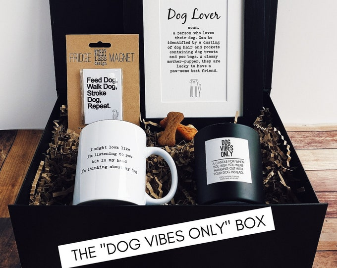 Dog Lover Gift - The Dog Vibes Only Box - Dog Owner Gift