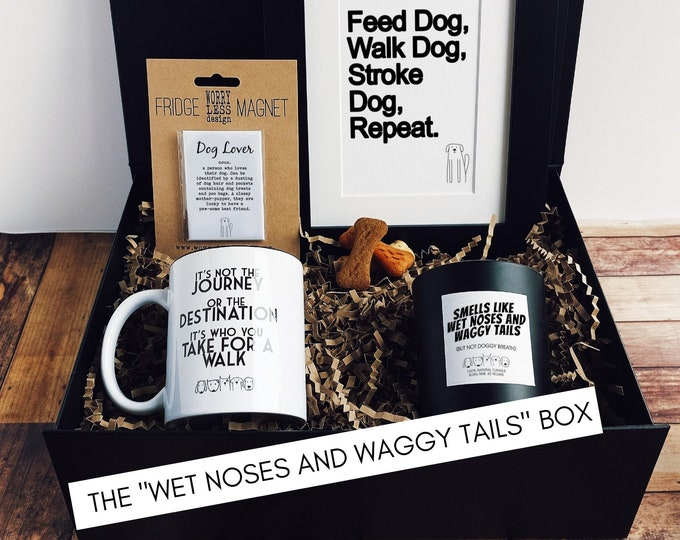 Dog Lover Gift - The Wet Noses and Waggy Tails Box - Dog Owner Gift
