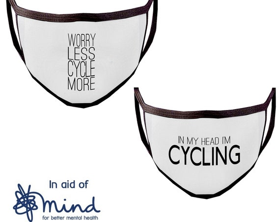 Washable Face Mask, Reusable Face Masks - Cycling Quotes - Cycling Face Mask, Cycling Face Covering,Cyclist Face Mask, Protective Mask