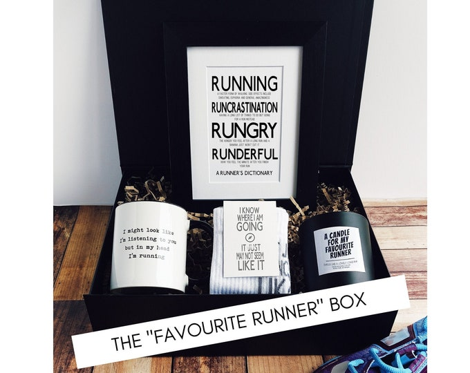 """Running Gift Set – The """"We know how much you love Running"""" Box - Presents for Runners"""