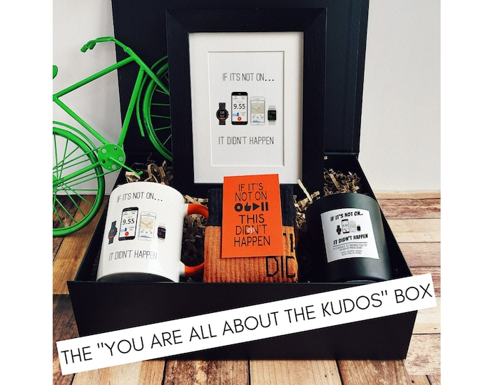 """Running Gift Set – The """"You are all about the Kudos"""" Box - Best Gifts for Runners"""