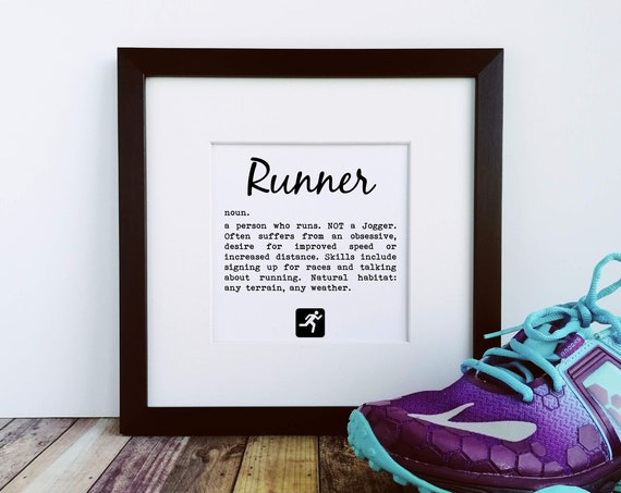 Runner Gifts - Runner Definition, Large Print, Funny Running Gifts, Gifts for Runners, Runner Print, Running Wall Art, Running Buddy