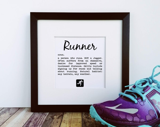 Large Prints - Runner Definition - Gifts for Runners Men