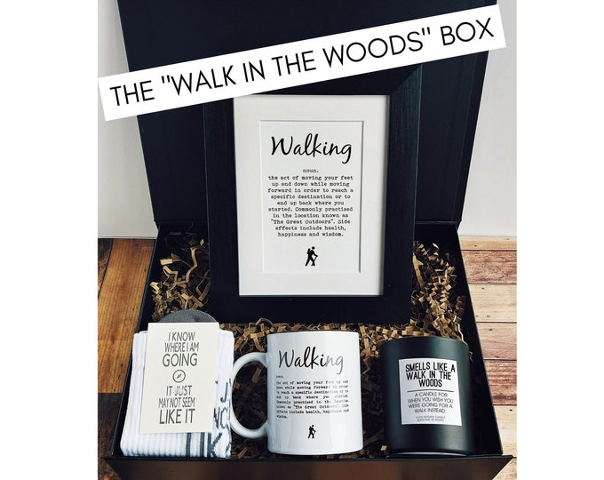 """Walking Gift Box - The """"Walk in the Woods"""" Box - Presents for Walkers"""