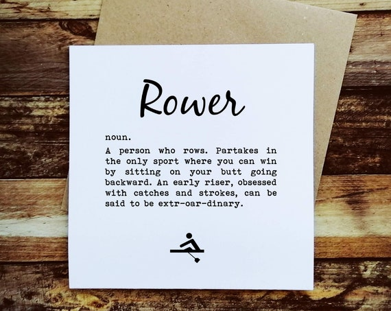 Rowing Card - Rower Definition - Gifts for Rowers