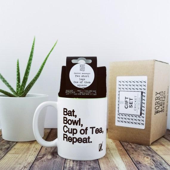 Cricket Gifts - Cricket Gift Set - Mug and Sock Set. Gift Box for Him, Gift Box for Men, Cricket Fan Gift