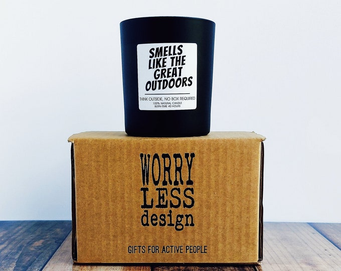 Scented Candle - Smells like the Great Outdoors