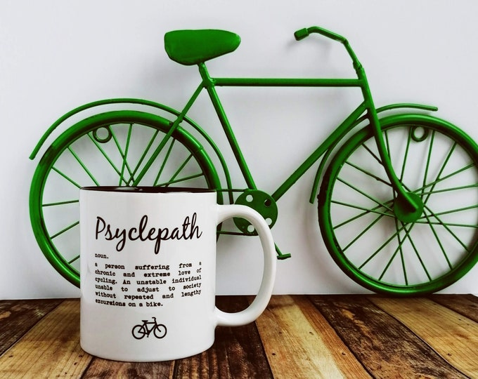 Mug - Psyclepath Definition - Presents for Cyclists