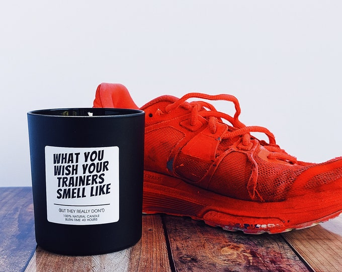 Scented Candle - What you wish your trainers smell like - Running Themed Candle