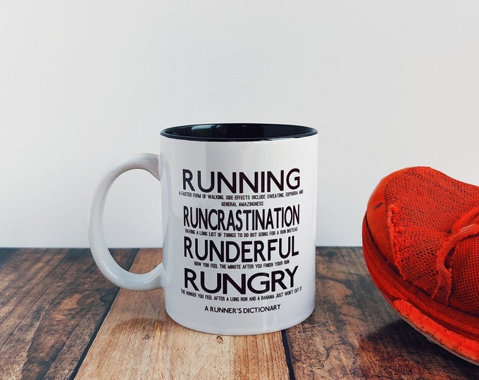 Mug - A Runner's Dictionary - Presents for Runners