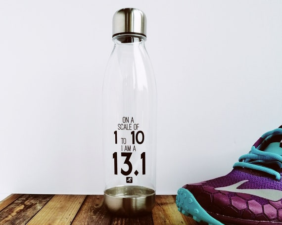 On a Scale of 1 to 10 - Water Bottle. Half-Marathon Bottle. Half Marathon Gift, Gifts for Half-Marathon Runner, Half Marathon Runner Bottle