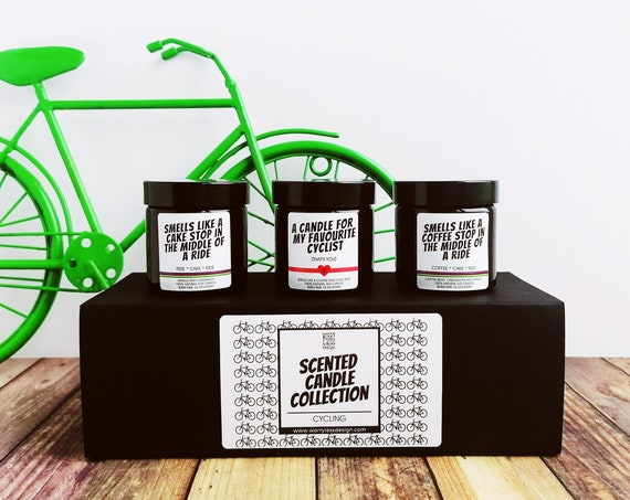 Scented Candle Collection - A Coffee and a Cake Stop for your Favourite Cyclist - Presents for Cyclists