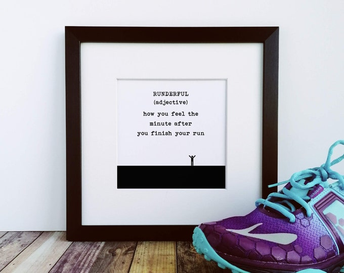 Large Framed Print - Runderful Definition - Presents for Runners