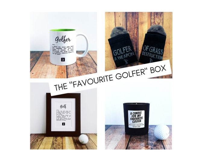 """Golf Gifts - Golf Gift Set - The """"Favourite Golfer"""" Box."""