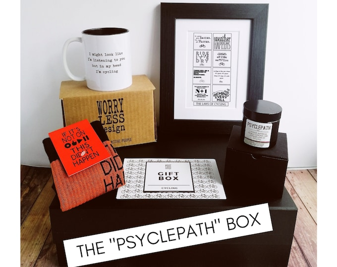 """Cycling Gift Set - The """"Psyclepath"""" Box - Presents for Cyclists"""