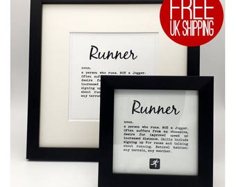 Runner Gift Framed Print Definition Perfect For Runners Marathon And Half Running