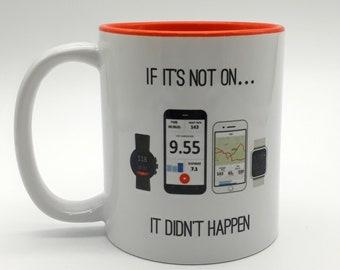 It didn't happen, Cyclist Mug, Cycling Gift. Gift for Cyclist. Funny Cycling. Bike Gift, Cyclist Gift.