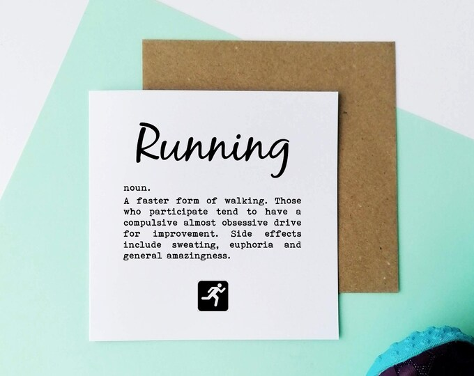 Running Cards - Running Dictionary Definition - Card for a Runner.