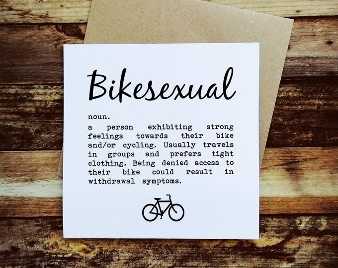 Cycling Card - Bikesexual - Presents for Cyclists