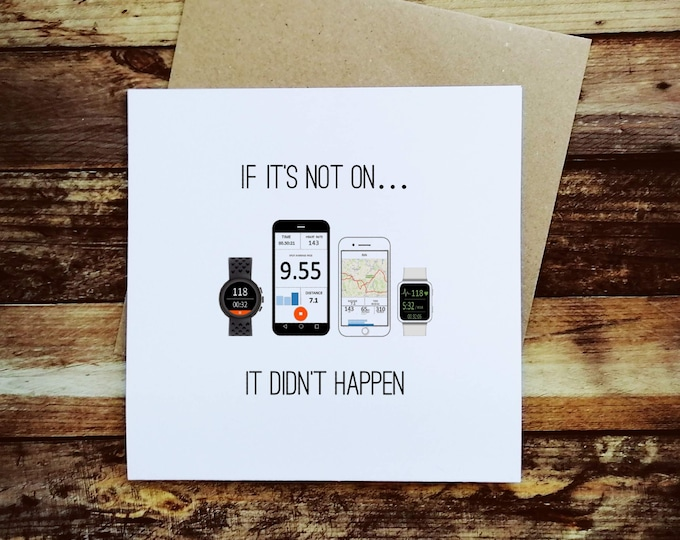 Greetings Card - If it's not on - Presents for Runners