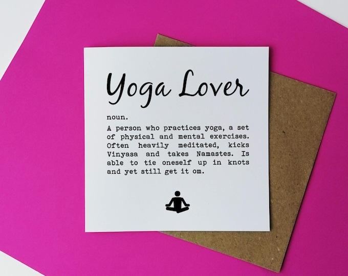 Greetings Card - Yoga Lover Definition - Yoga Gift Ideas