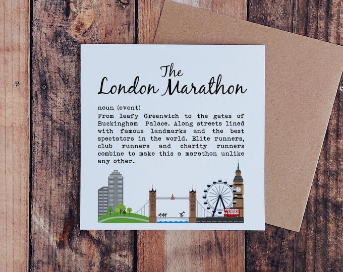 The London Marathon. New design for 2021.