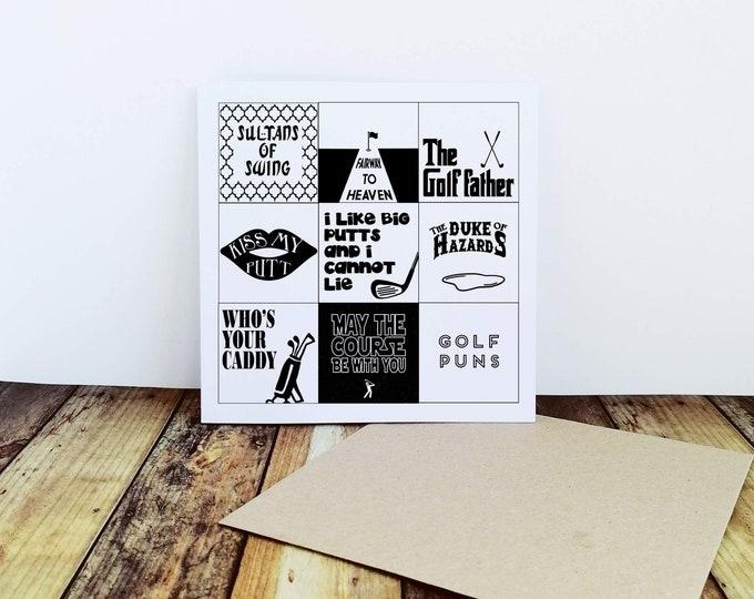 Greetings Card - Golf Puns - Golf Gift Ideas