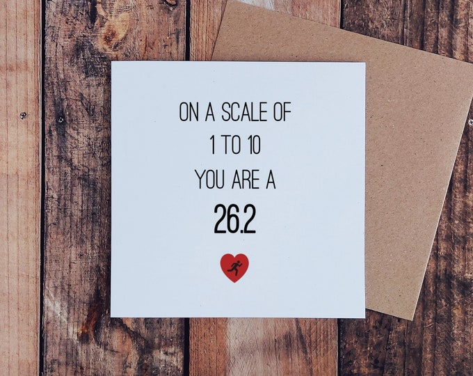 Greetings Card - On a scale of 1 to 10...