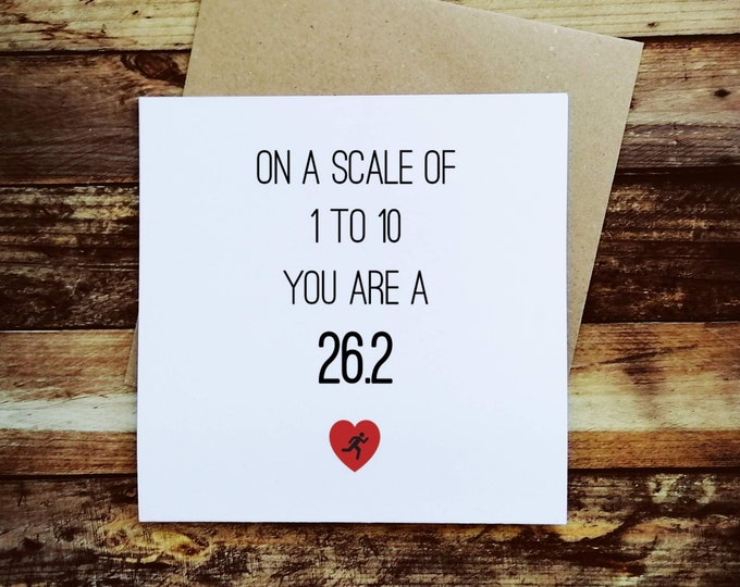 Greetings Card - On a scale of 1 to 10... Half Marathon Gifts