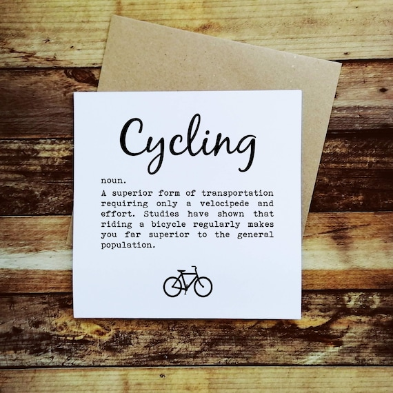 Cycling Card - Cycling Definition - Presents for Cyclists