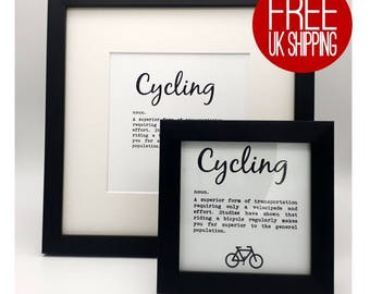 Framed Print - Cycling definition