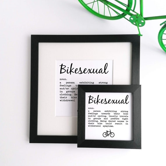 Bikesexual - Cycling Print, Cycling Wall Art, Cycling Poster, Cycling Gift, Gift for Cyclist, Funny Cycling Gift