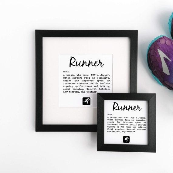 Runner Definition - Running Gift, Funny Running Gift, Gift for Runner, Runner Print, Running Wall Art, Runners Framed Print