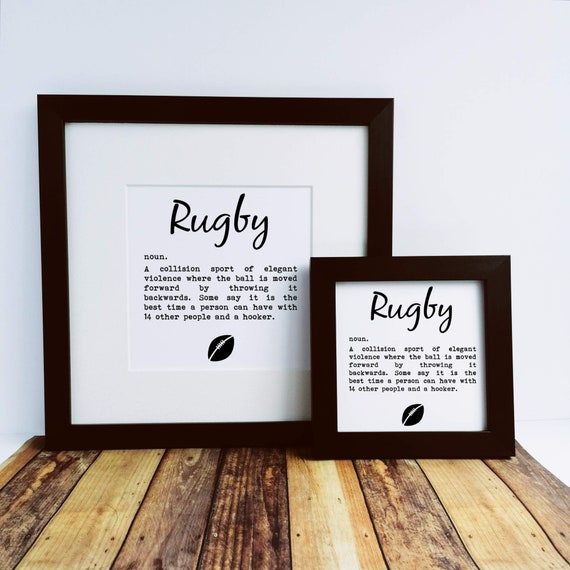 Rugby Gift, Rugby Print. Funny Definition. Gift for Rugby Player, Rugby Lovers. Rugby Gifts. Gift for Rugby Lover. Rugby Dad. Rugby Birthday