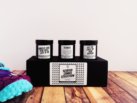 Runner Gifts - Scented Candle Collection - Running Collection - Gifts for Runners.