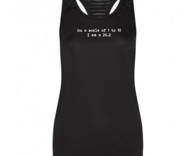On a Scale of 1 to 10 - Running Vest - Running Gifts - Running Tank Top - Runner Gifts - Running Shirt