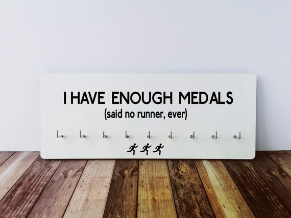 Medal Hanger - I have enough medals. Running Medal Holder, Race Medal Display, Race Medal Holder, Run Medal Display. Gifts for Runners