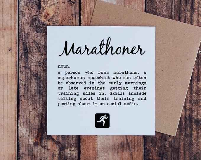Greetings Card - Marathoner...  Marathon Card