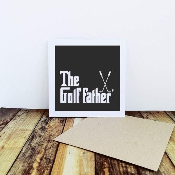 Golf Card - The Golf Father. Golfers Card, Card for Golfer, Fathers Day Card. Funny Golf Card. Golfer Card. Card for Dad.